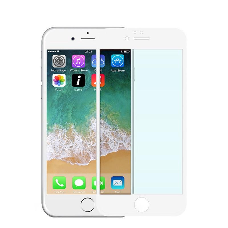 Fuldskærm Hærdet glas Hvid iPhone 6S